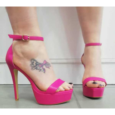 Sandalo Donna Fucsia Tacco  A Spillo