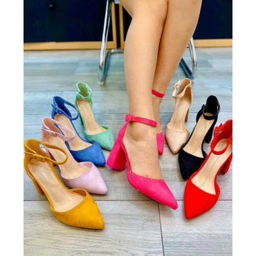 Decolletè Donna Con Cinturino Alla Caviglia Tacco  Colore  Glicine