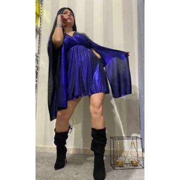 Vestito Donna Con Manica A Pipistrello