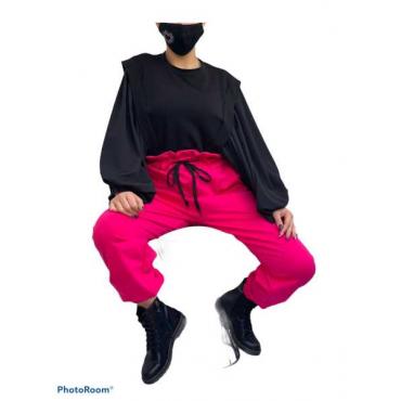 Pantalone Di Tutta Vita Alta Effetto Caramella