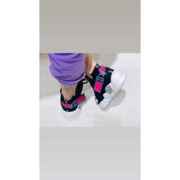 Sneakers Elastica Effetto Specchio