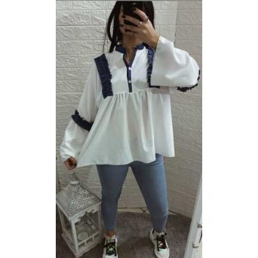 Camicia Cotone Con Voila Jeans