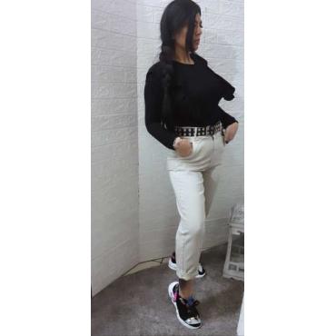 Jeans Vita Alta Effetto Caramella