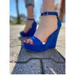 Sandalo Zeppa Con Cinturino Alla Caviglia