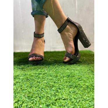 Sandalo Glitter Con Cinturino