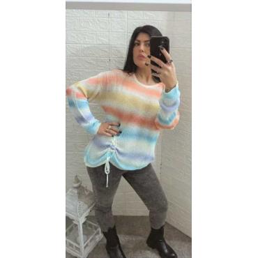 Maglia Filo Lino Multicolore