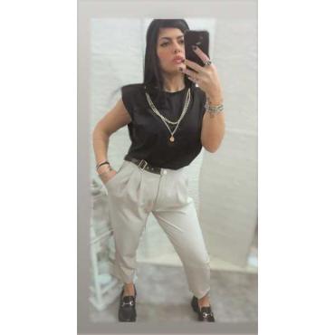 New Pantalone Con Cintura Vestibilità Comoda