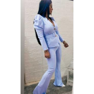 Completo Donna Pantalone A  Zampa Giacca E Cintura