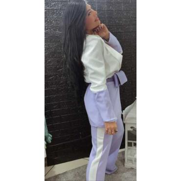 Completo Giacca E Pantalone Bi Colore