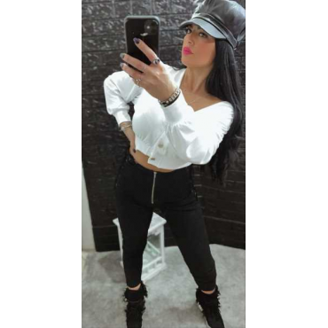 Jeans Vita Alta Con Stinghe