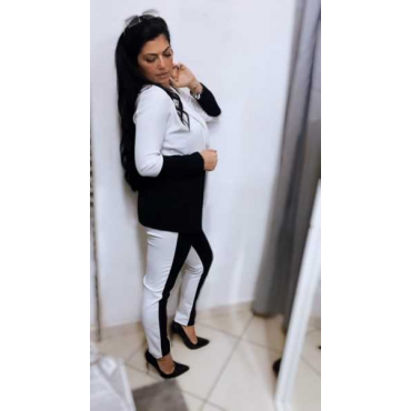 Completo Donna Pantalone E Giacca Bicolore