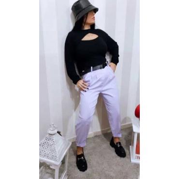 Pantalone Cotone Vestibilita Morbida Cintura Compresa