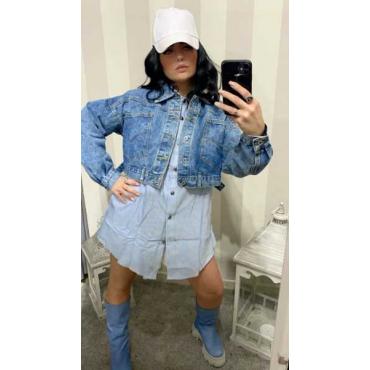Jacket Jeans Con Tasconi