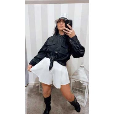 Shorts Donna A Campana In Cotone