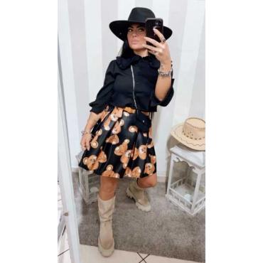 Camicia Rop Donna Con Mini Bag Tessuto Elastico