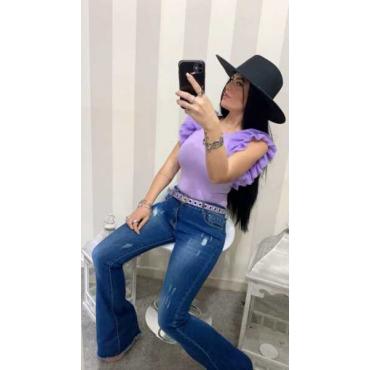 Jeans Elastico A Zampa
