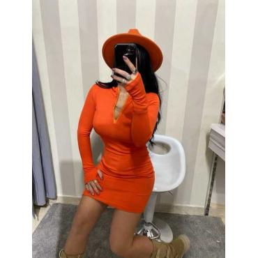 Vestito A Costine Con Guanto Manica