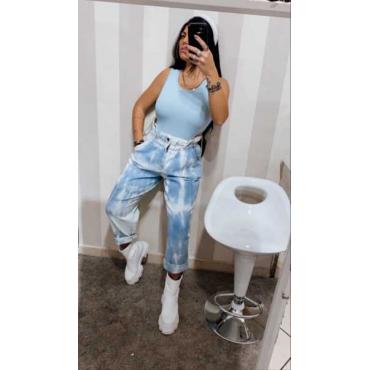 Jeans Denim Jeans Lavaggio Trendy Scambiato