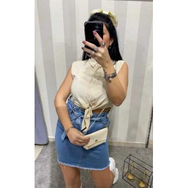 Camicia Corta Con Mini Bag Abbinata