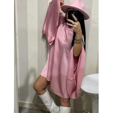 Vestito Manica Larga Tinta Unica
