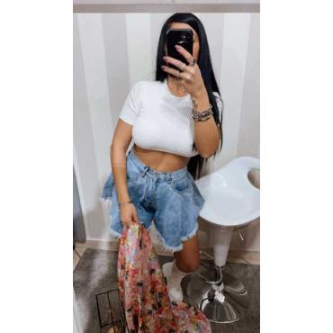 Short A Farfalla Jeans New