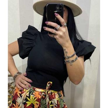 T-Shirt Donna Con Manica A Ruge A Volà