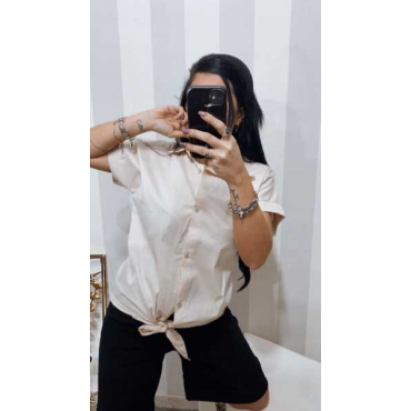 Camicia Con Nodo Mezza Manica
