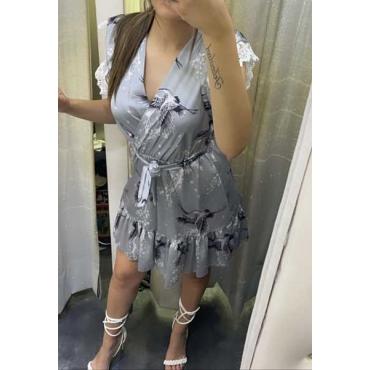 Vestito Con Manica A Merletto
