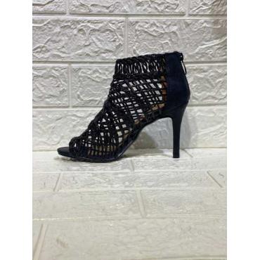 Sandalo Donna Intrecciato  Con Zip