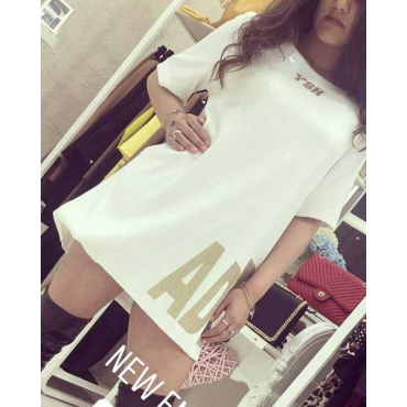Vestito Paiette Bianco