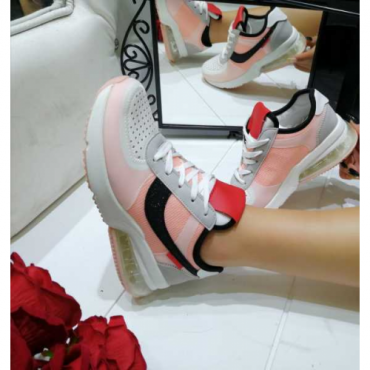 Scarpa Donna Sneakers Con Gomma Soft Rosa