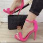 Sandalo Donna Tacco A Spillo Bracciale Alla Caviglia E Plato Fuxia