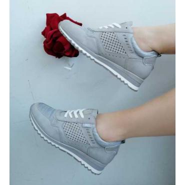Sneakers Donna Con Zeppa  Grigio