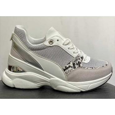 Sneaker Donna Con Zeppa  Comoda E Di Moda