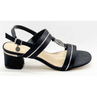 Sandalo Donna Con Fascia Larga  Vera Pelle
