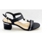 Sandalo Donna Con Tacco Largo E Comodo  Vera Pelle