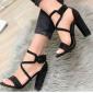 Sandalo Donna  Con Incrocio  Tacco Alto
