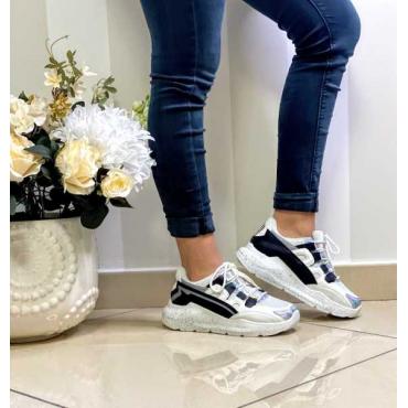 Sneakers Donna Con Reflex Fondo  Con Zeppa