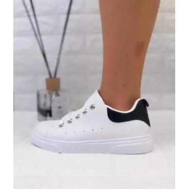 Sneakers Donna Bassa Colorata Nero