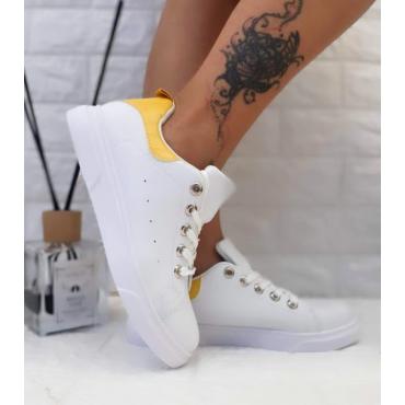 Sneakers Donna Bassa Colorata Giallo