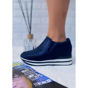 Scarpa Donna Bassa Colorata Blu