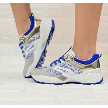 Sneakers Donna Con Lacci E Fondo Soft