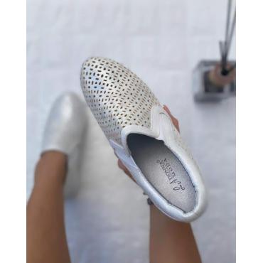 Scarpa Donna Bassa Colorata Bianco